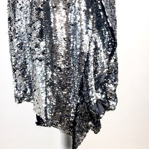 Bar III Dresses - Bar III Glitter Glamour Silver Dress.